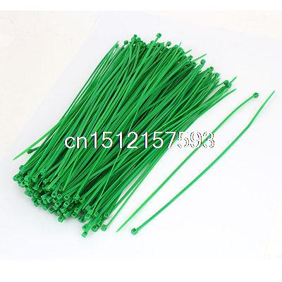 250 Pcs 4mm x 250mm Nylon Self-Locking Electric Cable Zip Ties Fastener Green<br><br>Aliexpress