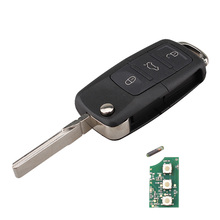 FGHGF 434.4MHZ ID48 Chip Flip Car Key Remote Transmitter For VW VOLKSWAGEN SEAT 1K0 959 753 G/1J0959753DA/1J0959753 AH with Logo