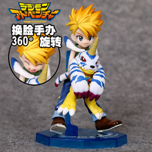 11cm Japanese anime figure digimons ISHIDA YAMATO/Gabumon action figure set kids toys for boys(China)