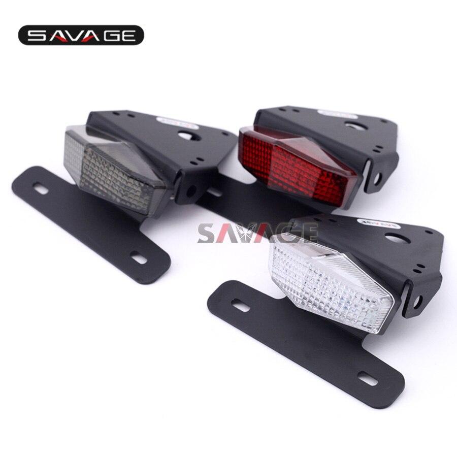 For SUZUKI DRZ 400S/SM DRZ400 S/SM DRZ400S Motorcycle Fender Eliminator Registration License Plate Holder Bracket LED Tail Light<br><br>Aliexpress