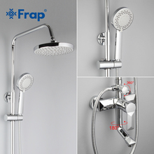 Frap 1 Set Bathroom Rainfall Shower Faucet Set Mixer Tap With Hand Sprayer Wall Mounted Bath Shower Sets Single Handle F2418(China)