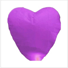Flying Wishing Lamp Hot Air Balloon Kongming Lantern Cute Love Heart Sky Lantern Party Favors For Birthday Party 200PCS 8 Colors