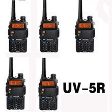 5pcs 5W 128CH Handy Two Way Radio Station Baofeng UV-5R Walkie Talkie With Dual Band Vhf Uhf Mobile Radio Amador baofeng uv5r