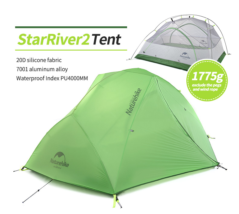 getSubject() aeProduct.  sc 1 st  DHgate.com & Wholesale Naturehike Star River Camping Tent Upgraded Ultralight 2 ...