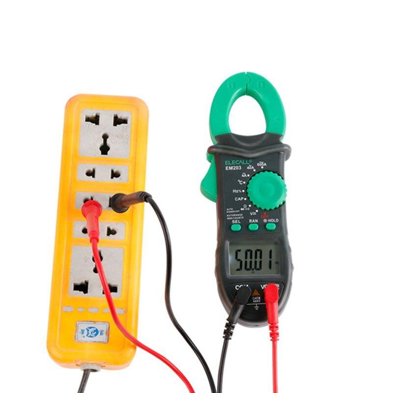 EM203 4000 Counts AC/DC Frequency Temperature Voltage Current Resistance Capacitance  Measurment Digital Clamp Meter<br><br>Aliexpress