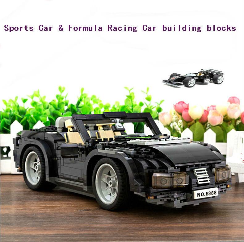 Sports Car &amp; Formula Racing Car Model DIY Construction building blocks Sets 6888 Sports car 850 pcs Plastic toy for chidren<br>