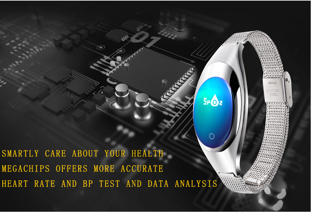 LEMDOIE Z18 Smart Wristband Support Heart Rate Blood Pressure Oxygen Monitoring Women Band for Android IOS Smart Watch Bracelet