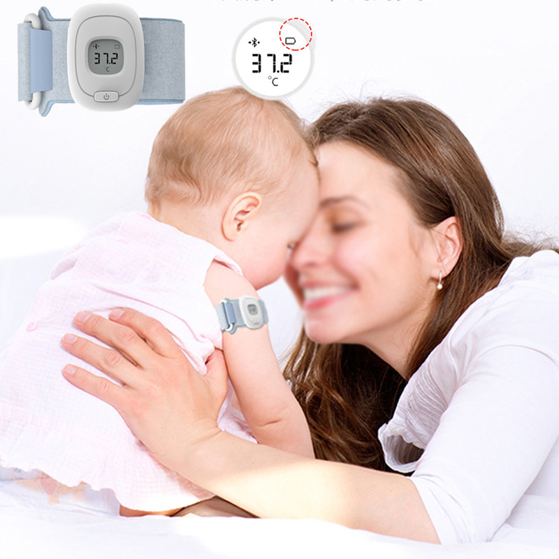 Baby Health Care Children Intelligent Wearable Electronic Thermometer Bluetooth Smart Baby Monitor<br>