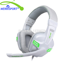MERRISPORT Wired Headphones Gaming Headsets Headphones Adjustable Online Live Game Gaming Chat Headset with Mic for PC Computers