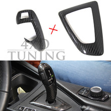 For BMW 1 2 3 4 5 6 7 X Series X3 F25 X4 F26 Carbon Fiber Gear Knob Cover Trim(China)