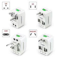 US AU NZ Europe & Universal AC Worldwide Travel Camping Adapter Outlet Converter Power Plug