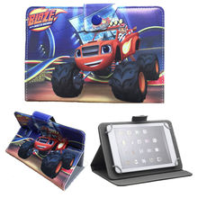 "Kids gifts Blaze and the Monster Machines PU Leather Stand Cover Case for iRULU eXpro X1s 7"" Tablet PC 8GB Android Tablet"