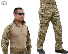 Emerson bdu G3 Combat uniform shirt & Pants & knee pads Military Army uniform MultiCam Suit CP Hunting Party Supplies(China)