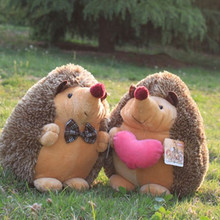 25cm Cute couple Hedgehogs doll, 2 pcs NICI plush toys, wedding dolls, girlfriend birthday gift Lovers Gifts Free Shipping