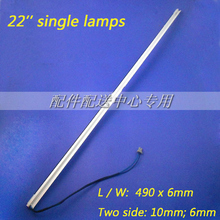 10pcs x Universal 22 inch wide CCFL Single Lamps for LCD Monitor w/ Frame  Backlight Assembly 490mm*6mm Free Shipping