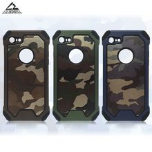 Lizardhill Army Camo Camouflage back cover Hard PC+ Soft TPU Armor protective phone cases for iPhone 5s 6 s 6s plus 7 plus coque(China)