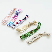 1000pcs/lot 50 color mixed color packaging Emi Jay Like Pattern Colorful No Crease hair band Rope Ponytail yoga Hair Ties