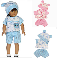 clothes sets for 18 inch 16 inch 45cm American girl doll shirt pants hat for Alexander doll dress up baby girl gift toy