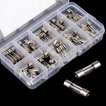 100pcs/lot 5x20mm Quick Fast Blow Glass Tube Fuse Assortment Kit  0.2/0.5/1/2/3/5/6/8/10/15A