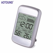 AOTOUIND Digital Wireless Weather Station with Indoor Digital Thermometer Hygrometer Alarm Snooze Clock #T09(China)