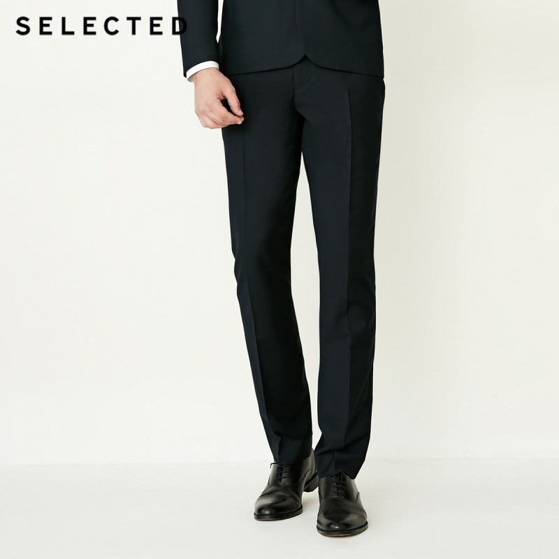 SELECTED Pants Business-Suit Cultivate Fly Morality T-41836a501 Front Men Pure-Color title=