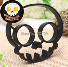 Creative Breakfast Silicone Skull Fried Egg Mold Mould Pancake Egg Shaper Ring Non-stick Kitchen Tools Black