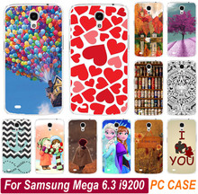Painted Case For Samsung Galaxy Mega 6.3 i9200 9200 Classic Print Love You Beer Moon Cute Littel Girl Phone Case Cover Shell
