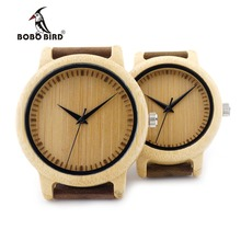 BOBO BIRD A09 Ladies Casual Quartz Watches for Men Natural Bamboo Watch face Women's Brand Lovers Watches in Box Dropshipping