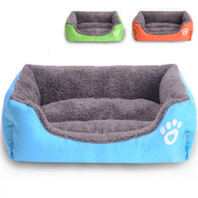 2016 New Luxury Pet Dog Cat Bed Puppy Cushion House Soft Warm Kennel Dog Mat Blanket Free Shipping