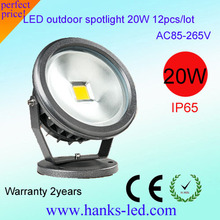 Fast Delivery 20W Led floodlight IP65 Waterproof RGB warm/cool white led Projector lights outdoor lights 85-265V(China)