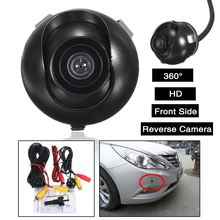 Best Price 360 Degree DC12V HD Car Front Side Reverse Camera Video Power Cable Kits Rear View Parking Color