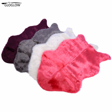 Soft Artificial Sheepskin Chair Cover Warm Hairy Carpet Seat Pad Plain Skin Fur Plain Fluffy Area Rugs Washable Bedroom Faux Mat(China)
