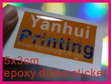 50x30mm epoxy dome sticker printing custom
