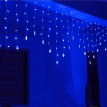 Luminarias 3.5M 96 LED Icicle  Stars String Curtain Light For Christmas Wedding Party Decoration Chandelier