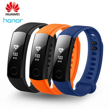Huawei Honor Band 3 Smart Wristband Swimmable 5ATM Heart Rate Monitor Push Message Waterproof Fitness Tracker For Android/IOS(China)