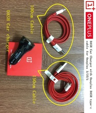 DASH Car Charger Dual USB Smart Super Fast charger adapter + original 1.5m/1m 1+ DASH Type-c data Cable for Oneplus 3 3t 5