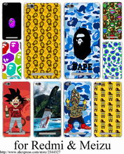 Sponge Bob Square Pants Bape Hard Transparent Case Cover for Redmi 2 2A 3 Pro 3S Note 2 3 Pro & Meizu M2 mini Note M3 Note