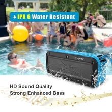 W-king Bluetooth Speaker Portable Wireless Speaker IPX6 Water Resistant for Shower Bathroom / Outdoor Activities / Bicycle TF FM