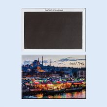 Turkey Evening market in Istanbul22735 Souvenirs of Tourist Landscape Magnetic refrigerator for friend(Hong Kong)