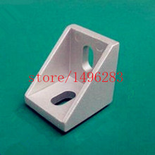50pcs 2020 Corner Bracket Fittings 2017 Slot 6 Corner Angle L Breakets Connector Aluminum Profile Accessories(China)