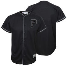 MLB Youth Pittsburgh Pirates Baseball Black Blackout Glow-in-the-Dark Cool Base Jersey(China)