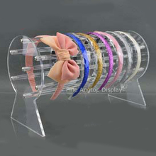 30cm Long Acrylic Headband Display Rack Clear Headwear Showing Stand Holder Hair Accessories Support Jewelry Display Shelf(China)