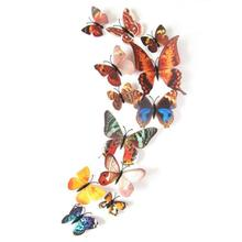 Mosunx Business 12pcs Art Design Decal Wall Stickers Home Decorations 3D Butterfly