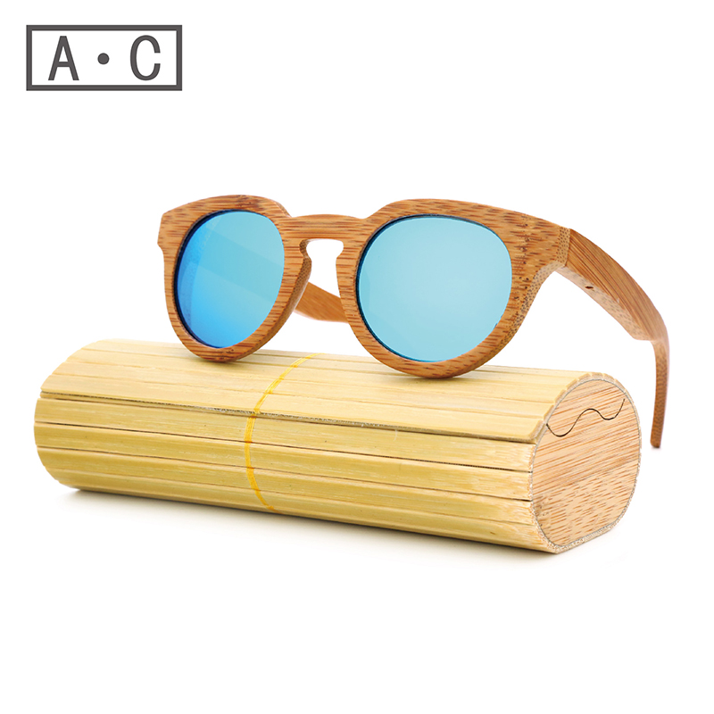 Ms packages mailed 2016 bamboo, wood retro fashion polarized light green natural sunglasses by hand<br><br>Aliexpress
