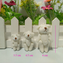Free shipping 100pcs/lot 4.5cm 6cm small lovely Stuffed plush Teddy bear best gift for children ,Promotional items t(China)