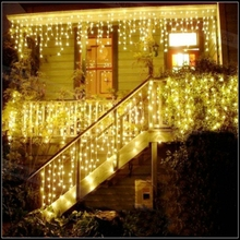 AC220V 110V String lights Christmas outdoor decoration 3.5m Droop 0.3-0.5m curtain icicle string led lights Garden Xmas Party(China)