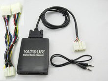 Yatour TOY1+YT-TYBY USB CD Changer Digital music interface adapter SD AUX input fit toyota lexus 5+7 pins navigation 1998-2005(China)
