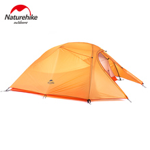 Naturehike Tent 2-3 Person silicone Hiking Camping Tent Double Layer NH Ultralight Outdoor Tent Waterproof Aluminum Rod(China)