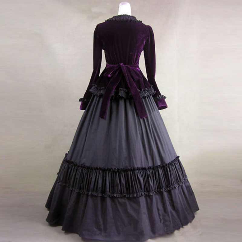 purple-velvet-long-sleeves-gothic-victorian-ball-gowns2