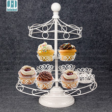 2 tiers white Iron small top Carousel cake Stand Birthday Party Hotel Cake Decoration Wedding Towers Dressert